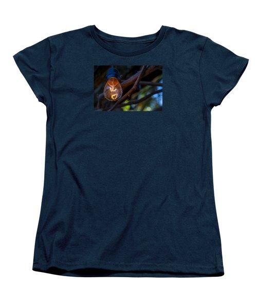 Lightbulb Women's T-Shirt (Standard Cut) by Derek Dean