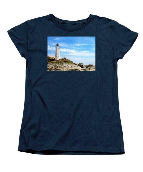 Lighthouse And Rocks Women's T-Shirt (Standard Cut)