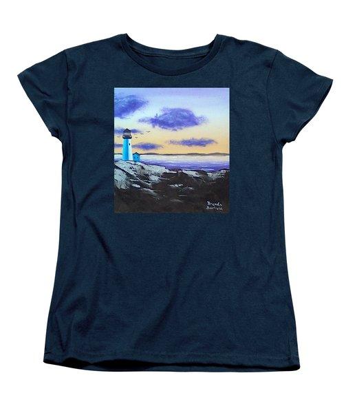 Lighthouse Women's T-Shirt (Standard Cut) by Brenda Bonfield