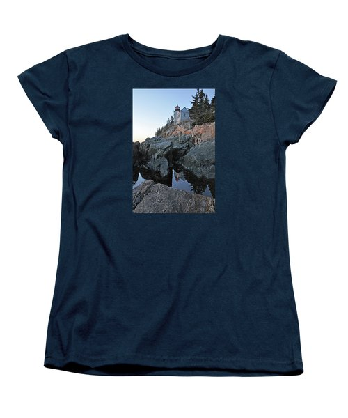 Women's T-Shirt (Standard Cut) featuring the photograph Lighthouse Reflection by Glenn Gordon