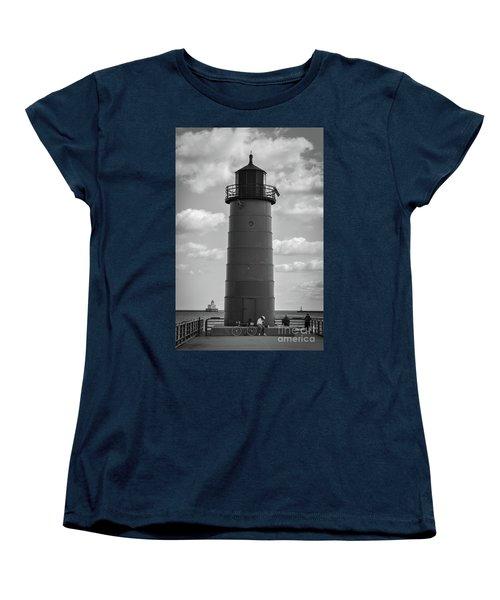 Lighthouses Of Milwaukee Women's T-Shirt (Standard Cut)