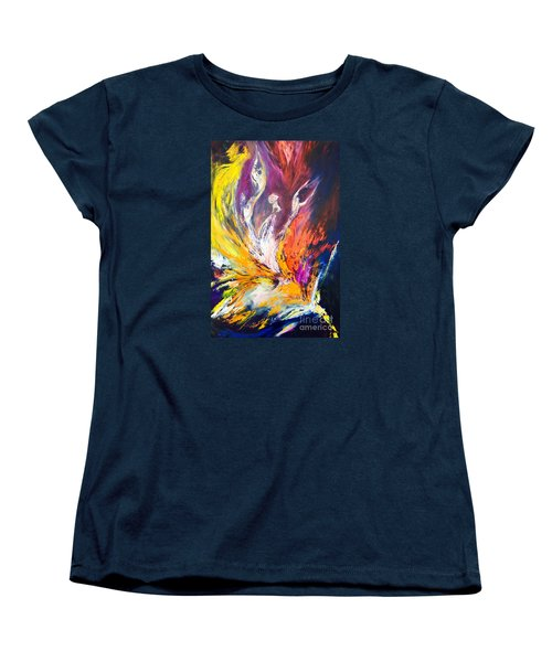 Women's T-Shirt (Standard Cut) featuring the painting Like Fire In The Wind by Marat Essex
