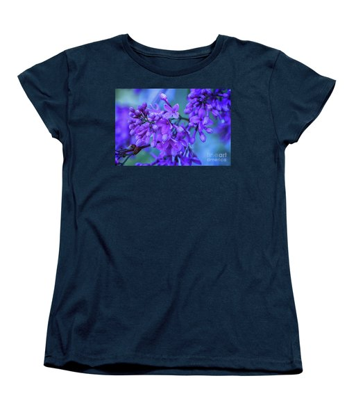 Lilac Blues Women's T-Shirt (Standard Cut) by Elizabeth Dow