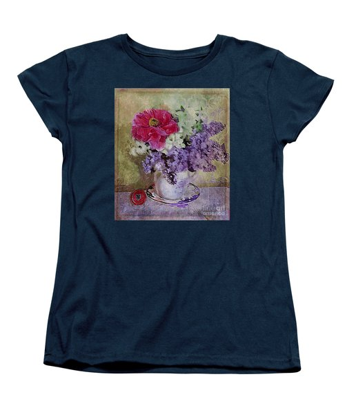 Lilac Bouquet Women's T-Shirt (Standard Cut) by Alexis Rotella