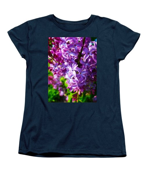 Women's T-Shirt (Standard Cut) featuring the photograph Lilac In The Sun by Julia Wilcox