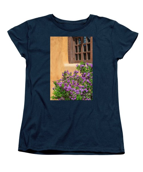 Lilacs And Adobe Women's T-Shirt (Standard Cut) by Catherine Sherman