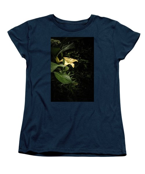 Women's T-Shirt (Standard Cut) featuring the photograph Lily In The Garden Of Shadows by Marco Oliveira
