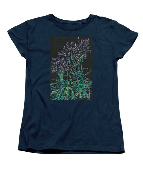 Women's T-Shirt (Standard Cut) featuring the mixed media Lily Of The Nile  by Vicki  Housel
