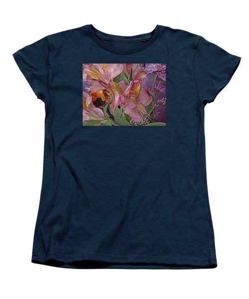 Lily Profusion 7 Women's T-Shirt (Standard Cut) by Lynda Lehmann