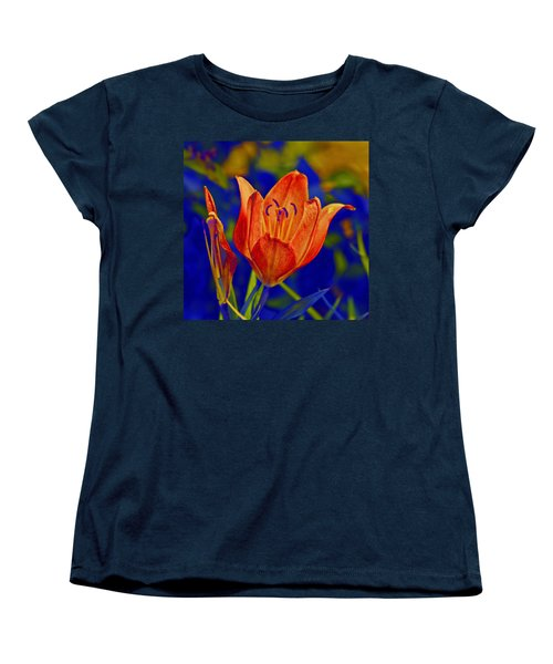 Women's T-Shirt (Standard Cut) featuring the photograph Lily With Sabattier by Bill Barber