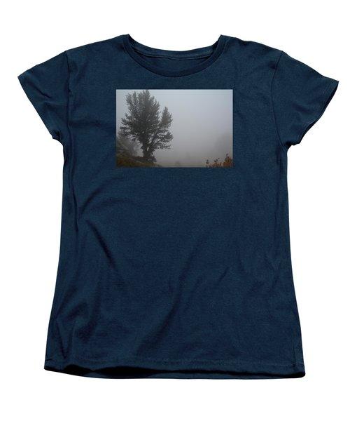 Women's T-Shirt (Standard Cut) featuring the photograph Limber Pine In Fog by Jenessa Rahn