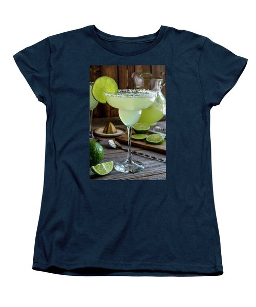 Women's T-Shirt (Standard Cut) featuring the photograph Lime Margaritas by Teri Virbickis