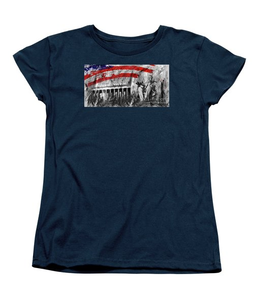 Women's T-Shirt (Standard Cut) featuring the painting Lincoln Abe by Gull G