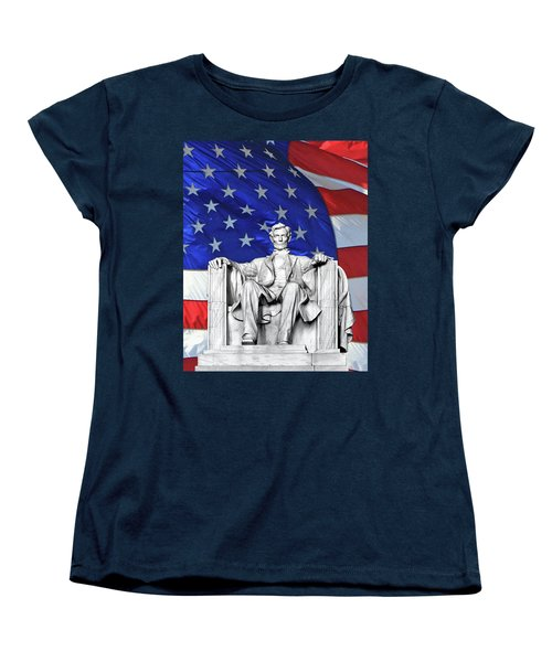 Women's T-Shirt (Standard Cut) featuring the photograph Lincoln America by Christopher McKenzie