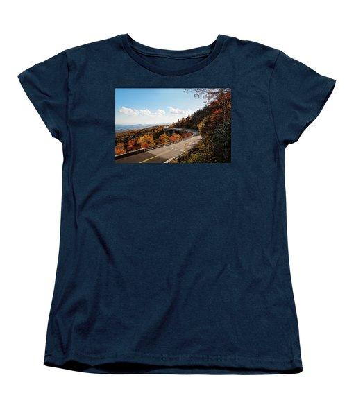 Linn Cove Viaduct Women's T-Shirt (Standard Cut) by Deborah Scannell