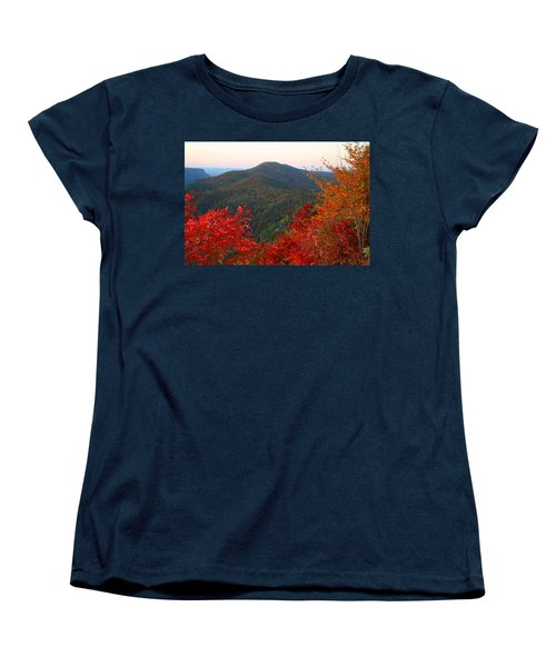 Women's T-Shirt (Standard Cut) featuring the photograph Linville Gorge by Kathryn Meyer