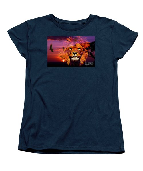 Lion And Eagle In A Sunset Women's T-Shirt (Standard Cut)