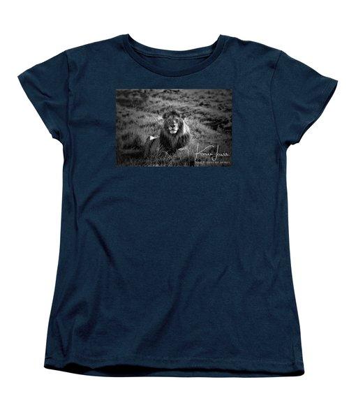 Women's T-Shirt (Standard Cut) featuring the photograph Lion King by Karen Lewis