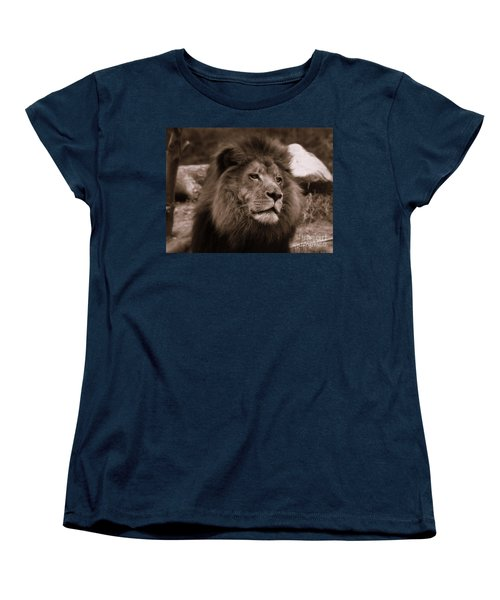 Lion King Women's T-Shirt (Standard Cut) by Lisa L Silva