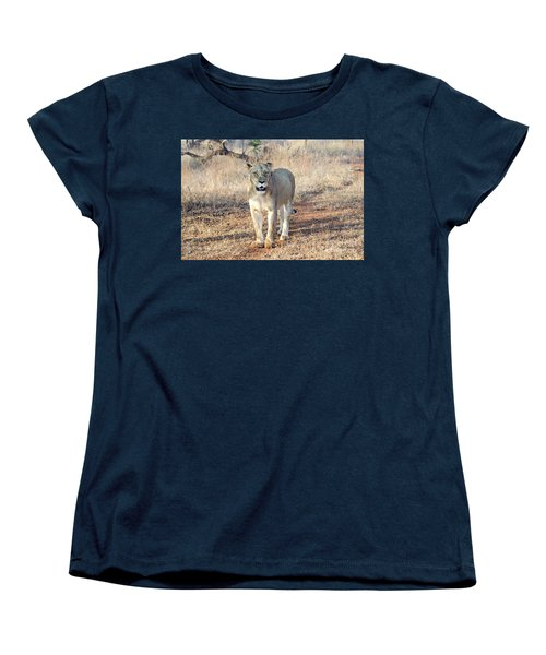 Lioness In Kruger Women's T-Shirt (Standard Cut) by Pravine Chester