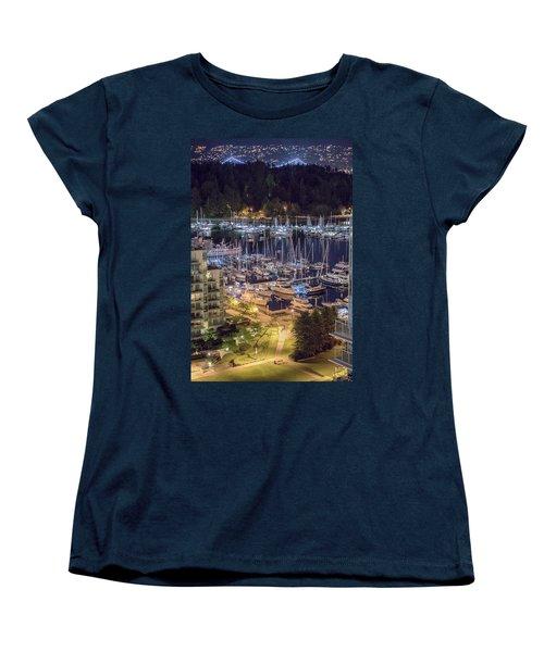 Lions Gate Bridge And Stanley Park Women's T-Shirt (Standard Cut) by Ross G Strachan