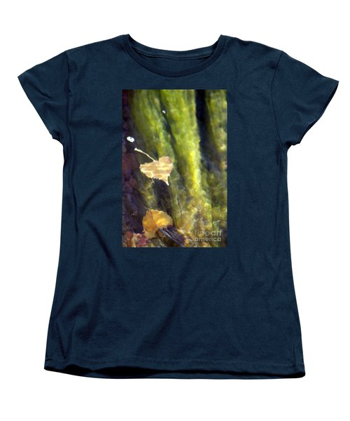 Liquid Leaves 1 Women's T-Shirt (Standard Cut) by Alycia Christine