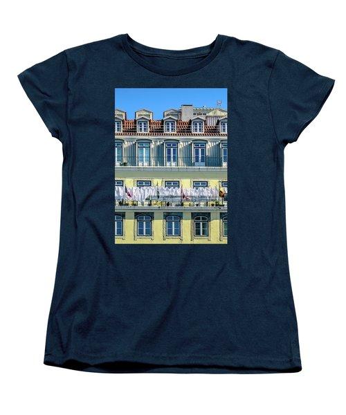 Lisbon Laundry Women's T-Shirt (Standard Cut) by Marion McCristall