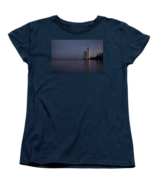 Lisbon Night Scene Women's T-Shirt (Standard Cut) by Marion McCristall