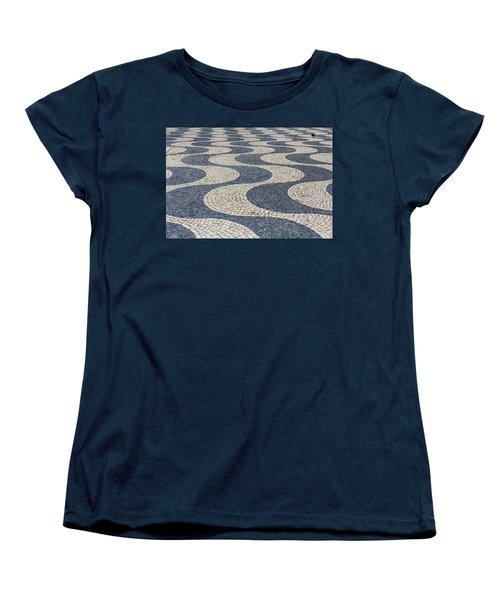 Women's T-Shirt (Standard Cut) featuring the photograph Lisbon Street by Patricia Schaefer