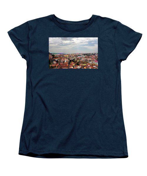 Lisbon's Chaos Of Color Women's T-Shirt (Standard Cut) by Lorraine Devon Wilke