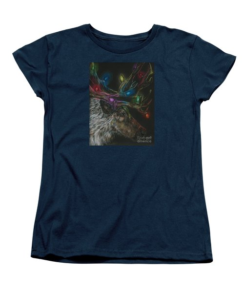 Women's T-Shirt (Standard Cut) featuring the drawing Lit Up by Meagan  Visser