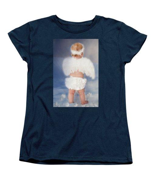 Little Angel Women's T-Shirt (Standard Cut) by Linda Segerson