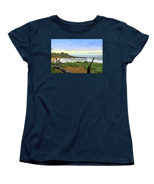 Women's T-Shirt (Standard Cut) featuring the photograph Little Beach by DJ Florek