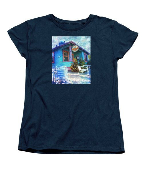 Little House Cafe  Women's T-Shirt (Standard Cut) by Linda Weinstock