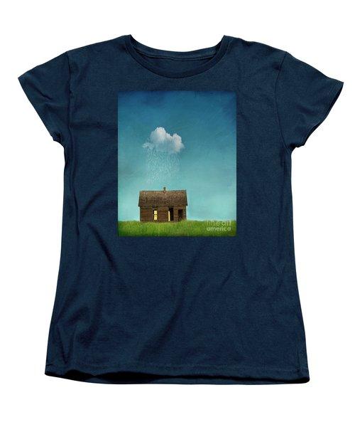 Women's T-Shirt (Standard Cut) featuring the photograph Little House Of Sorrow by Juli Scalzi