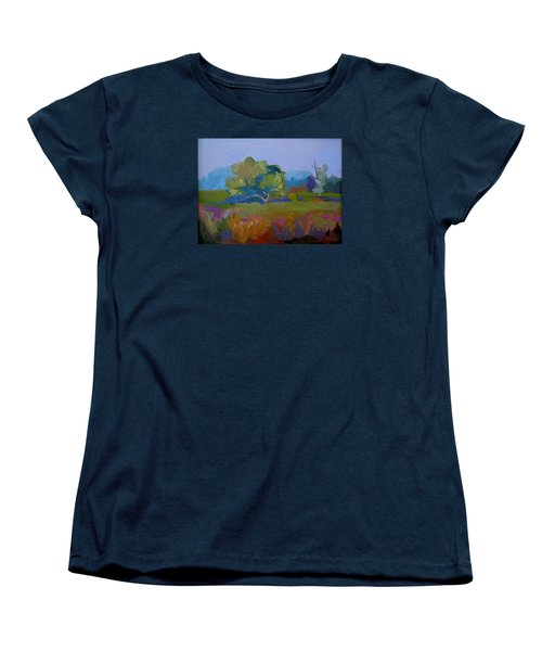 Women's T-Shirt (Standard Cut) featuring the painting Little Miami Meadow by Francine Frank