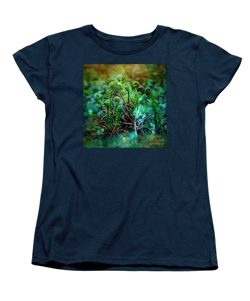 Little Planet Women's T-Shirt (Standard Cut) by Agnieszka Mlicka