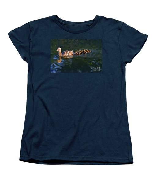 Little Quacker Formation Women's T-Shirt (Standard Cut) by Debby Pueschel