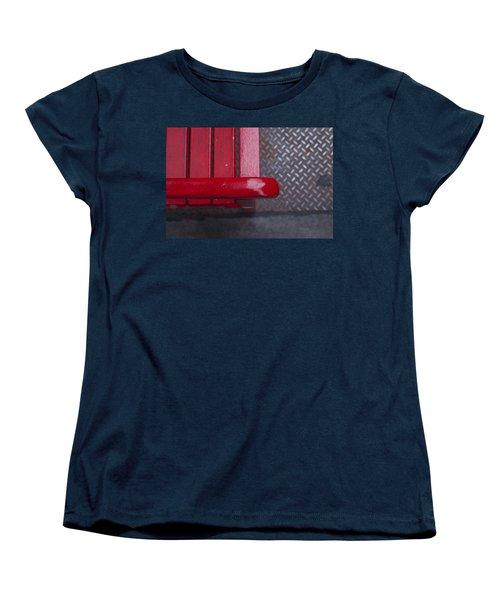 Little Red Bench Women's T-Shirt (Standard Cut) by Henri Irizarri