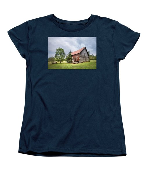 Women's T-Shirt (Standard Cut) featuring the photograph Little Rustic Barn, Adirondacks by Gary Heller
