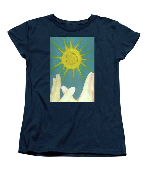 Women's T-Shirt (Standard Cut) featuring the mixed media Live In Light by Desiree Paquette