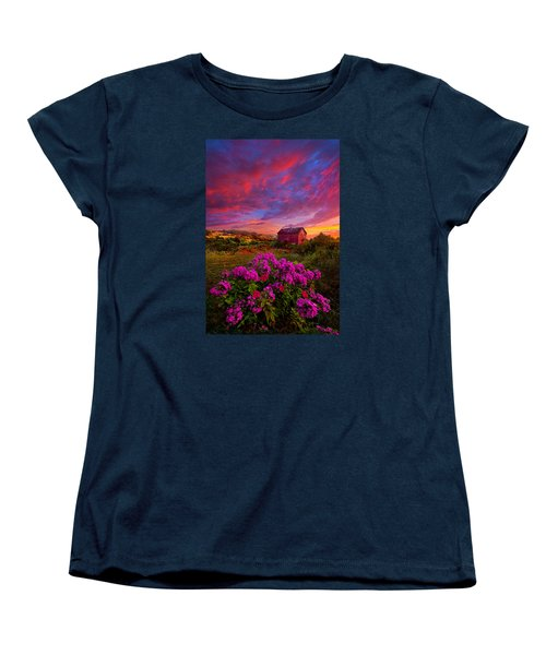 Live In The Moment Women's T-Shirt (Standard Cut) by Phil Koch