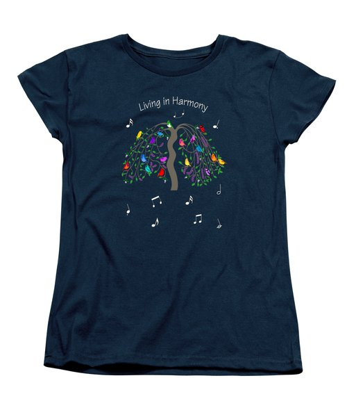 Living In Harmony Women's T-Shirt (Standard Cut) by Methune Hively