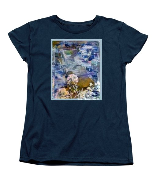 Women's T-Shirt (Standard Cut) featuring the mixed media Living It by Ray Tapajna