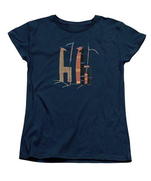 Women's T-Shirt (Standard Cut) featuring the mixed media Llamas T Shirt Design by Bellesouth Studio