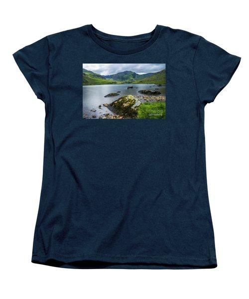 Llyn Ogwen Glyder Fawr Women's T-Shirt (Standard Cut) by Ian Mitchell