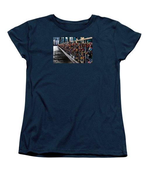 Locks Of Lock Bridge Women's T-Shirt (Standard Cut) by Alpha Wanderlust