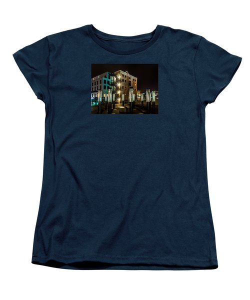 Lofts Overlooking Water Forest Women's T-Shirt (Standard Cut) by Rob Green