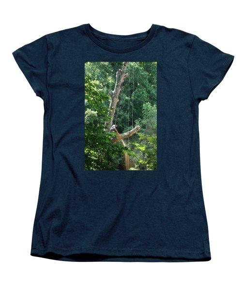 Logger Cutting Down Large, Tall Tree Women's T-Shirt (Standard Cut)