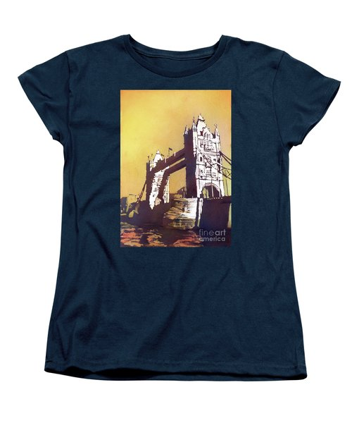 Women's T-Shirt (Standard Cut) featuring the painting London Bridge- Uk by Ryan Fox
